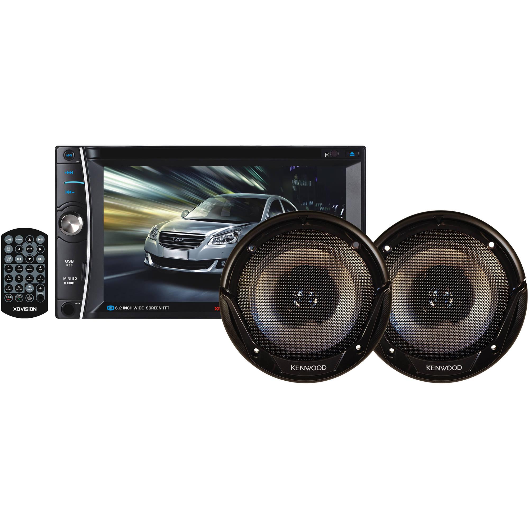 """XO Vision 6.2"""" In-Dash Touchscreen DVD Receiver"""