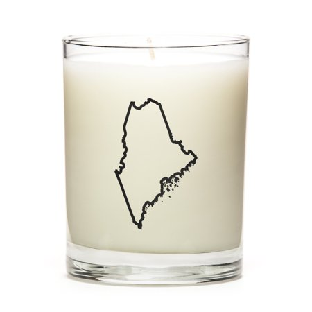Custom Candles with the Map Outline Maine, Toasted Smores
