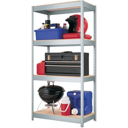 Space Solutions 1000 Series Boltless 4 Shelf Shelving  Galvanized Finish