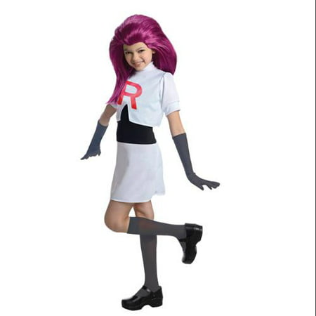 Pokemon Jessie Team Rocket Dress Costume Child - Team Rocket Jessie Halloween Costume