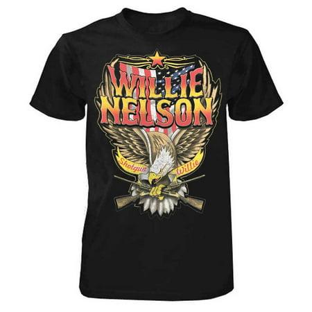 Willie Nelson Shotgun Willie T-Shirt Tee Rock n Roll Bands Tour Country (Tour Band T-shirt)