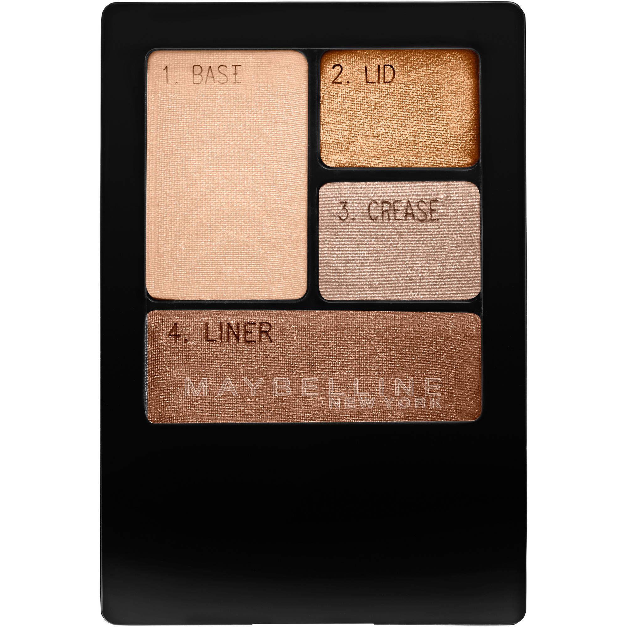 Maybelline New York Expert Wear Eyeshadow Quads, Chai Latte, 0.17 oz