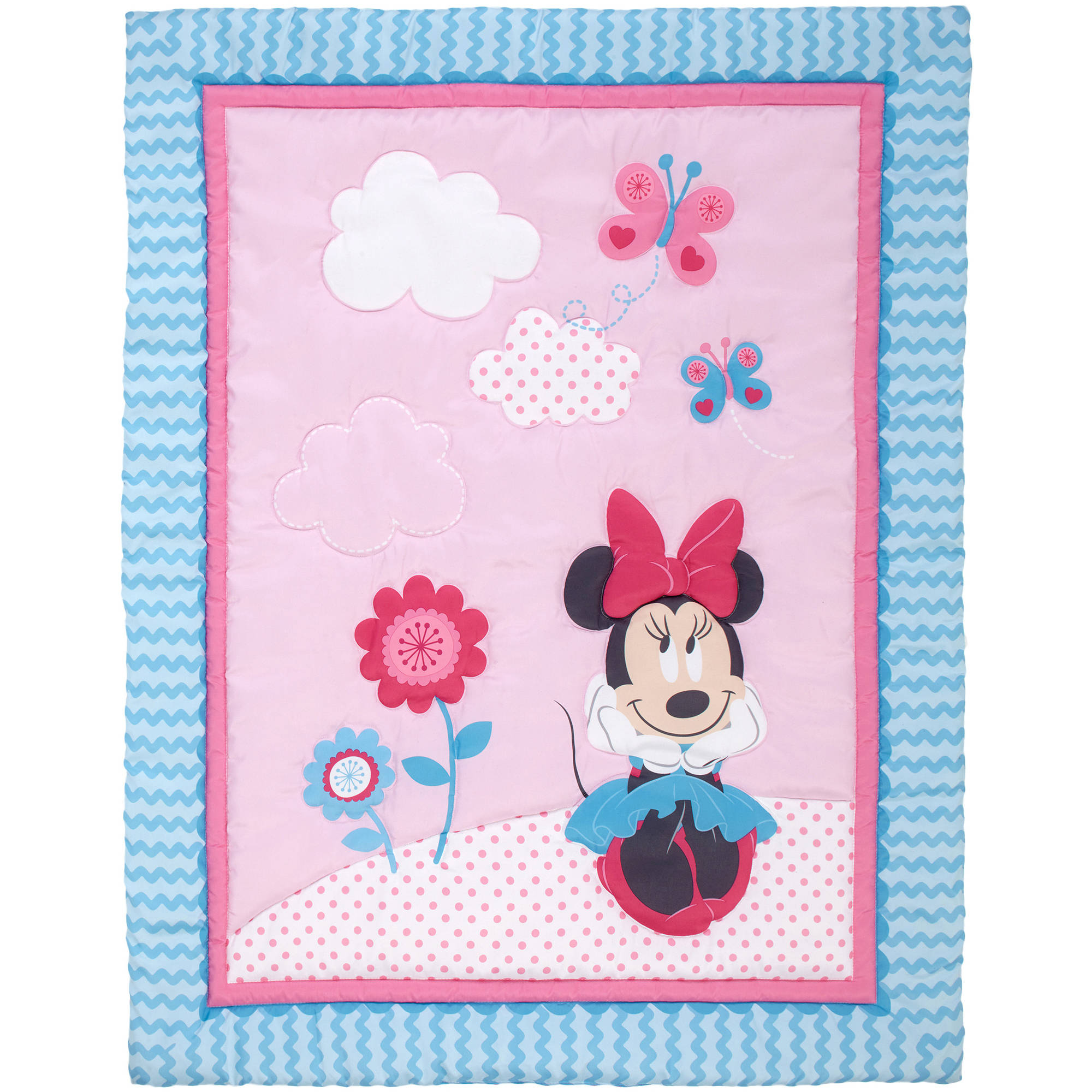 Disney Minnie Mouse Happy Day 4 Piece Crib Bedding Set - Walmart.com : minnie mouse cot quilt - Adamdwight.com