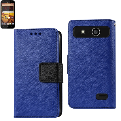 REIKO ZTE SPEED 3-IN-1 WALLET CASE IN NAVY
