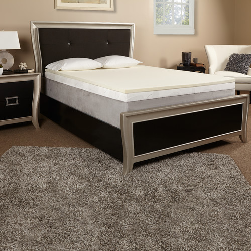 Luxury Solutions 1'' Memory Foam Mattress Topper
