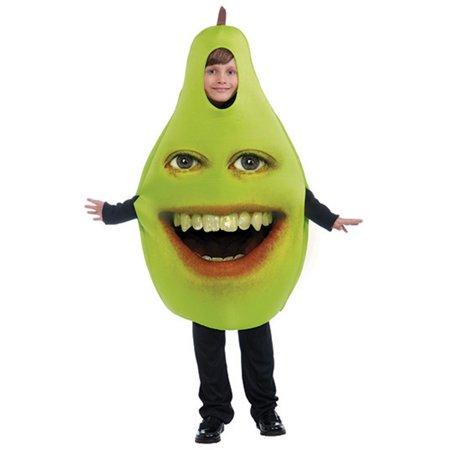 Childs 1-Size Medium-Large Annoying Orange Pear Costume