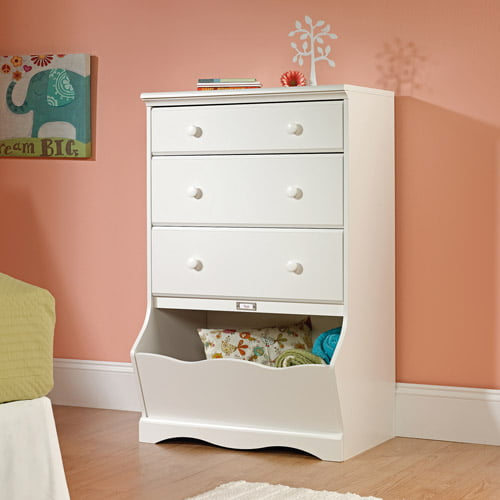 Pogo 3-Drawer Chest with Storage Bin - Soft White - Sauder