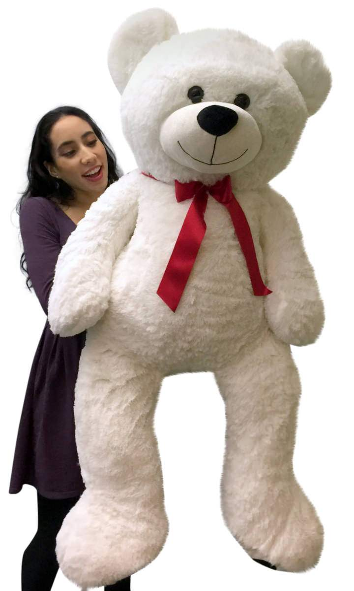 Giant Teddy Bear 52 Inch White Soft, Premium Quality Big Plush, Weighs 12 Pounds by BigPlush