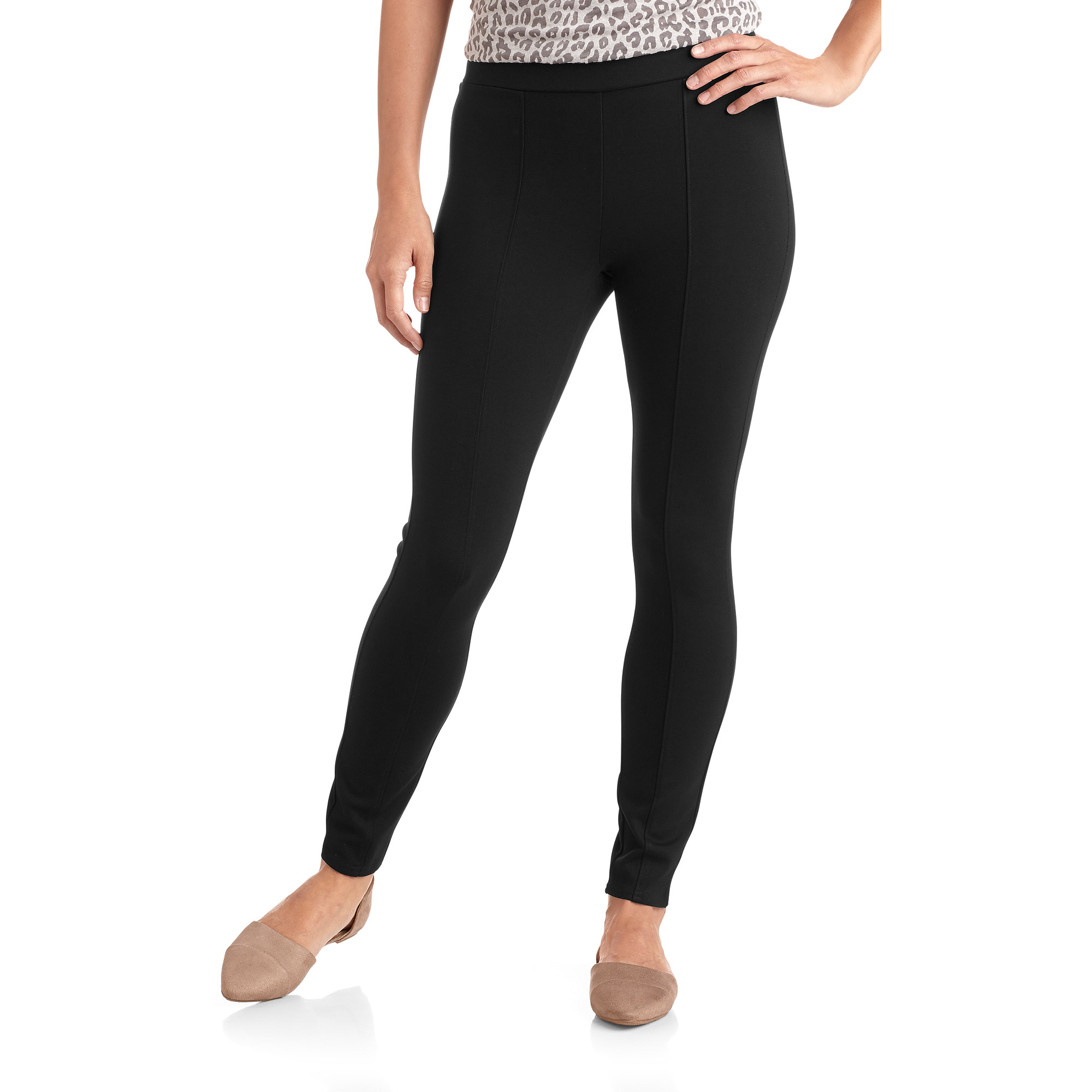 Faded Glory Women's Premium Pull-On Leggings with Front Seaming