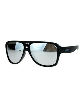 0cf350cb243ed Product Image SA106 Kush Mens Thick Plastic Aviator Color Mirror Lens Sport  Sunglasses Blue