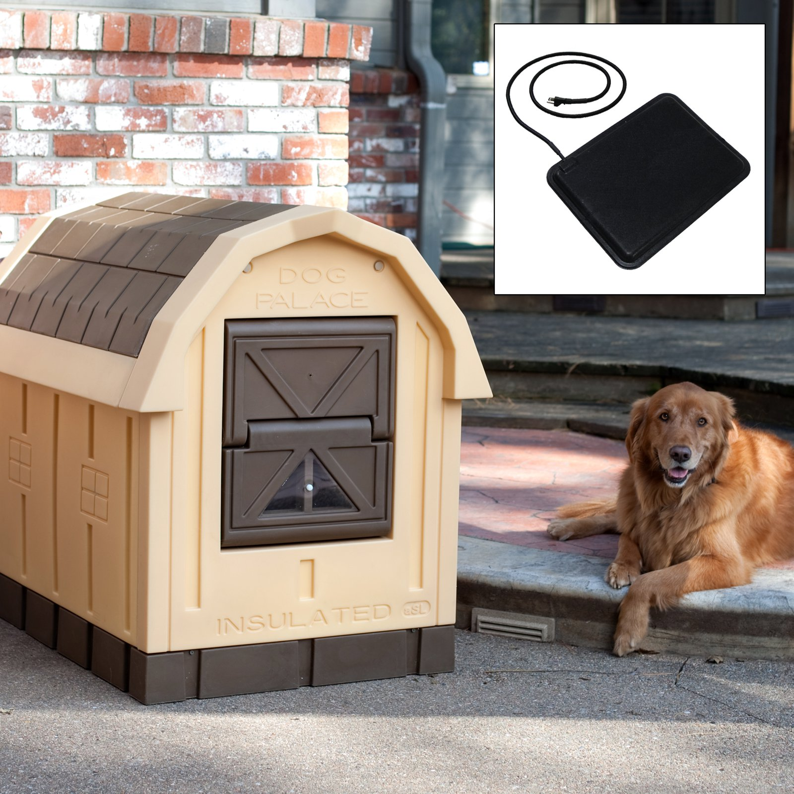 Asl Solution Dog Palace Dog House with Floor Heater