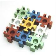 Judaica DJ-SPM3 Square Puzzle Piece Menorah