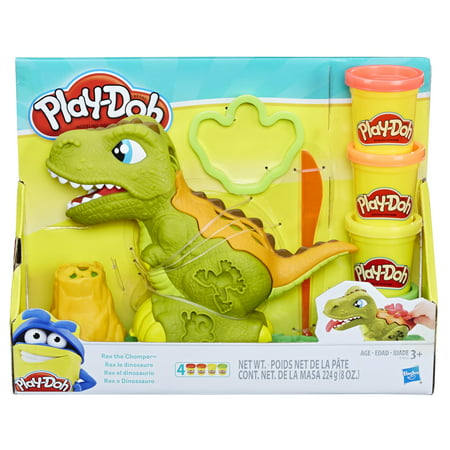 Team Dinosaur Toy (Play-Doh Rex the Chomper Dinosaur with 4 Cans of)