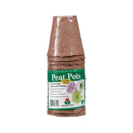 Plantation Products FR312B Peat Pot Pack, 3-In. Round, 15-Pk. - Quantity 20 (Jiffy Peat Pots)