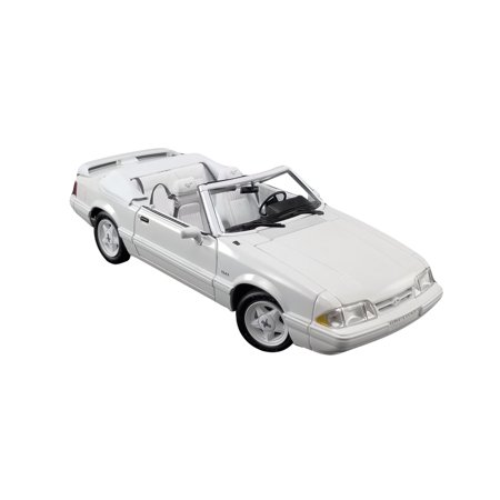 1993 Saturn Cars (1993 Ford Mustang LX 5.0L Convertible Feature Car Vibrant White Ltd Ed 474 pcs Worldwide 1/18 Diecast Model Car by GMP )