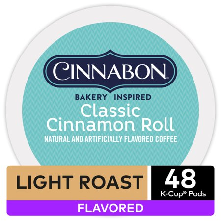 Cinnabon Classic Cinnamon Roll Keurig K-Cup Coffee Pods, Light Roast, 48 Count ()