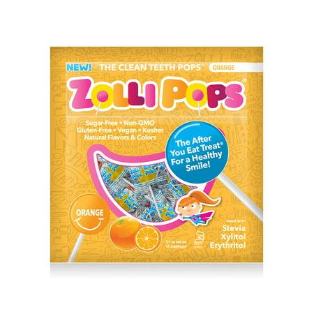 Zollipops Orange, Clean Teeth Anti-Cavity Lollipops, 3.1 - Orange Lollipop