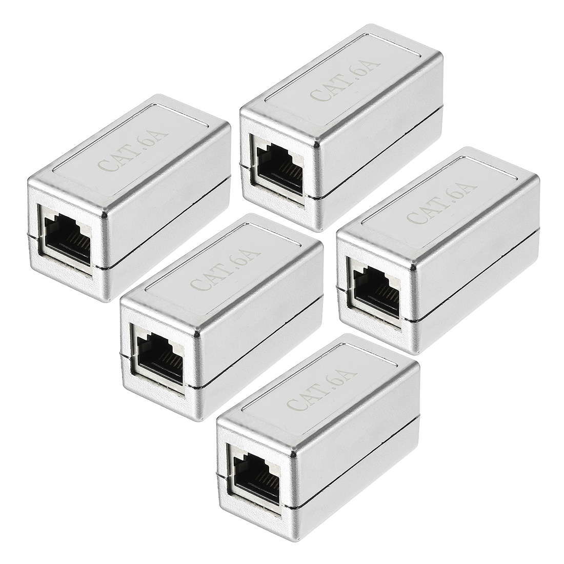 RJ45 Coupler Connectors Cat 6A Keystone Jacks Couplers Extending Cables 5 Pack