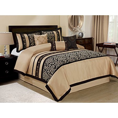 Unique home 7 piece odessa printed scroll clearance - Queen size bedroom sets clearance ...