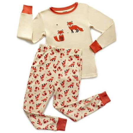 Girls Animal Print Onesie (Leveret Kids Pajamas Boys Girls 2 Piece pjs set Animal Prints 100% Cotton (Size 12 Months-14)