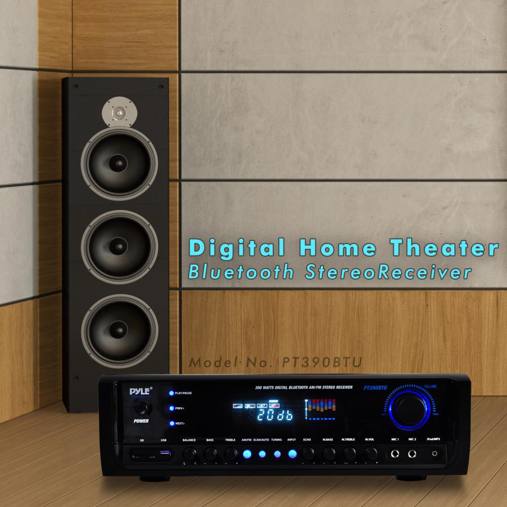 Home Theater Cabinet Cooling Pyle Pt390btu Home Theater Bluetooth Stereo Receiver Walmartcom