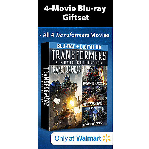 Transformers: Age Of Extinction 4-Movie Blu-ray Collection (4-Disc Blu-ray + Digital HD) (Walmart Exclusive) (With INSTAWATCH) (Widescreen)