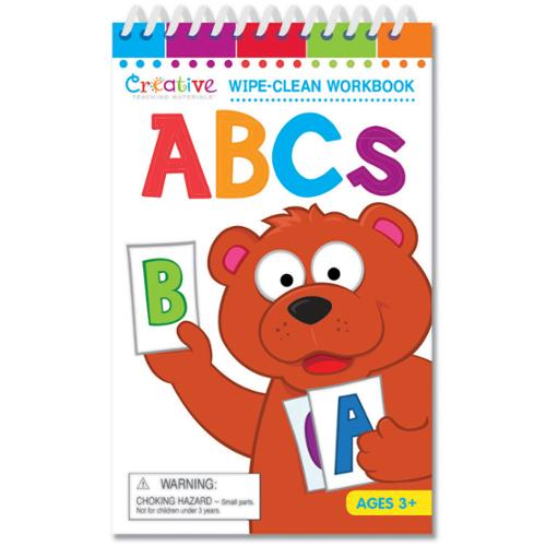 Creative Teaching Materials Wipe-Clean Workbook with Marker, ABCs