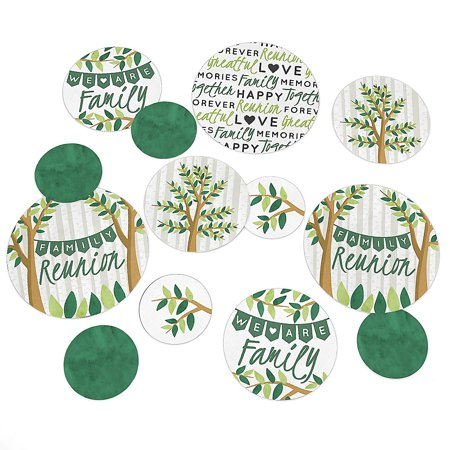 Family Tree Reunion - Family Gathering Party Giant Circle Confetti - Party Decorations - Large Confetti 27 Count ](Family Reunion Banners)