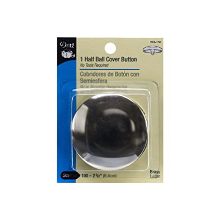 Half-Ball Cover Buttons, Size 100, 2-1/2