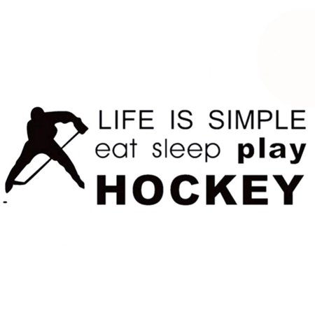 Ejoyous Playing Hockey Wall Stickers Bedroom Living Room Backdrop Wall Decoration,Wall Sticker, Modern Wall Sticker