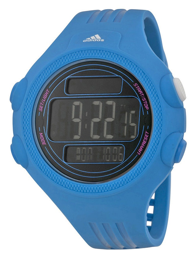 Adidas ADP6099 Questra Blue Silicone Bracelet with 53mm Digital Watch New In Box by Adidas