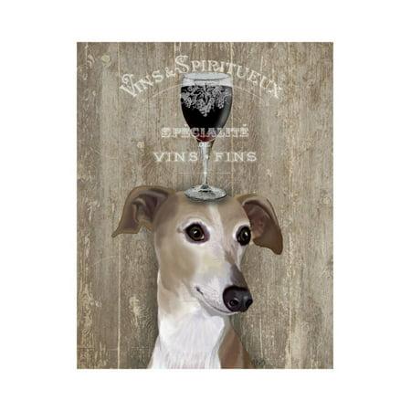 Dog Au Vin Greyhound Print Wall Art By Fab Funky ()