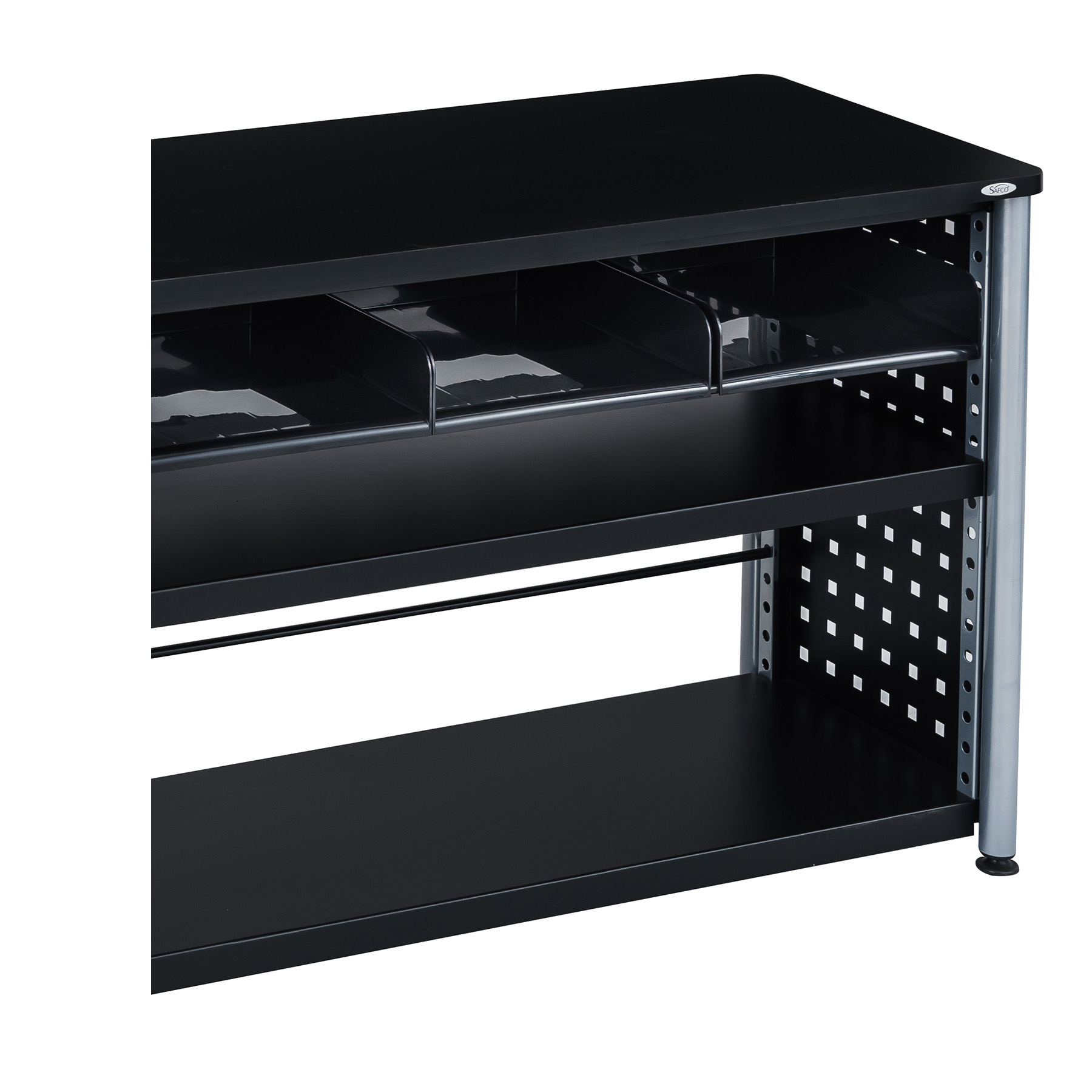 Scoot? 3-Tray Cubby Bookcase, Black