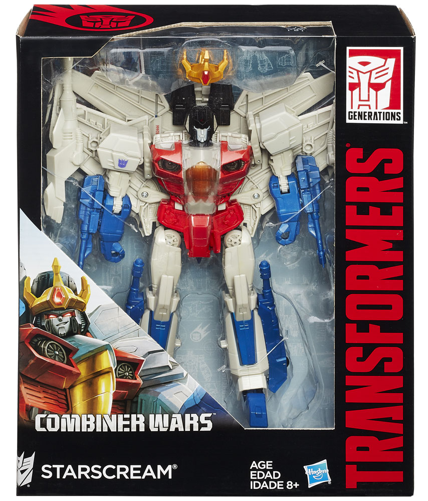 Transformers Generations Leader Class Starscream Action Figure Combine Wars Missle Jet Hasbro B2444AS0 by Hasbro
