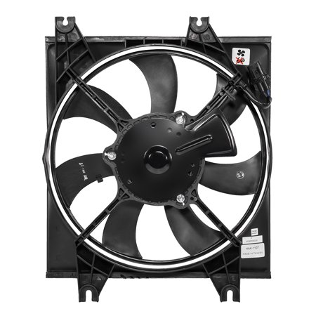 For 2001 to 2005 Hyundai Accent Factory Style AC Condenser Cooling Fan Shroud Assembly HY3113104 02 03 04