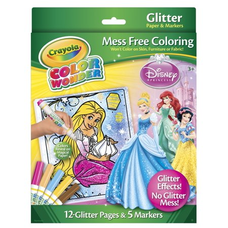Crayola Color Wonder Glitter Paper And Markers Disney