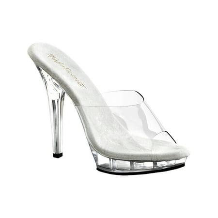5 Inch Cute Clear Shoe High Heel Open Toe Shoe Low Platform