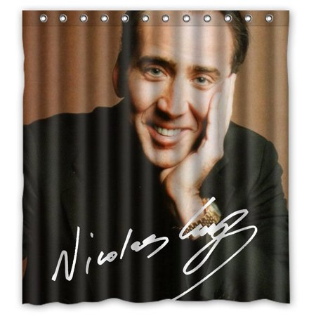 DEYOU Nicolas Cage Shower Curtain Polyester Fabric Bathroom Size 66x72 Inch