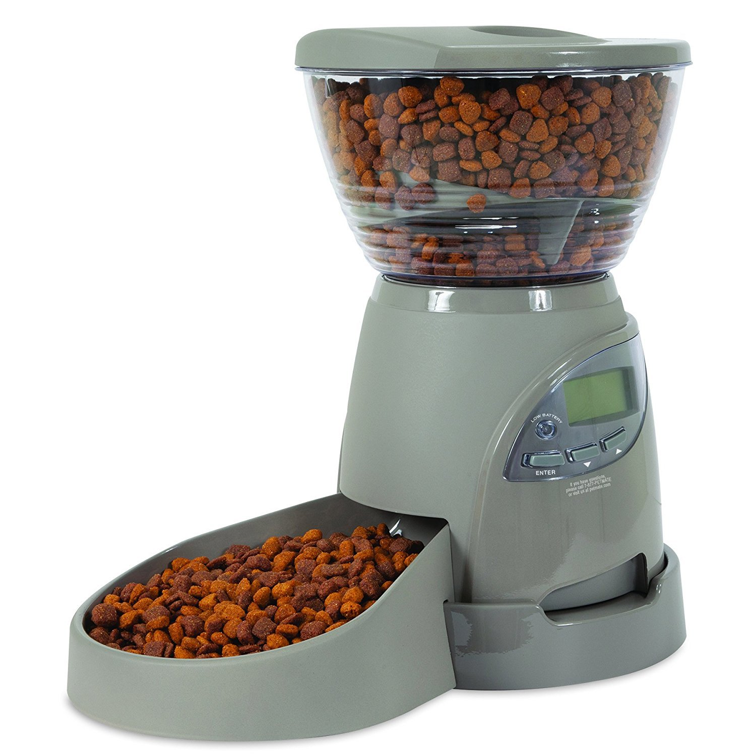 Petmate Portion Right Cat Dog Programmable Automatic Pet Food Dispenser Feeder