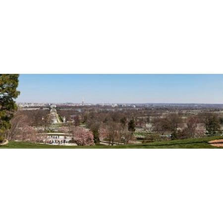 John F Kennedy Gravestones At A Gravesite Arlington National Cemetery Arlington Virginia Usa Canvas Art   Panoramic Images  18 X 6