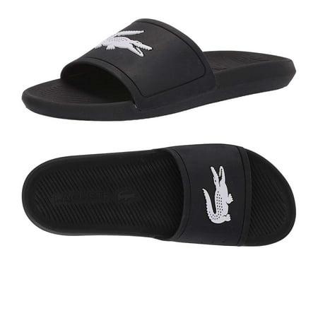 New Lacoste`s Men`s Croco Paris Slide in Round Toe (Croco Embossed Sandal)