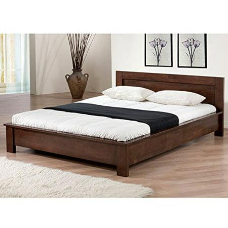 (Modern Transitional Wood Full Platform Bed in Wenge Finish - Includes Modhaus Living Pen)