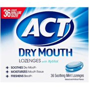 ACT Dry Mouth Soothing Mint Lozenges 36 ea (Pack of 4)