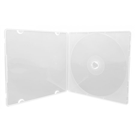 Clear Poly Case (CheckOutStore 100 SLIM Clear Single VCD PP Poly Cases)