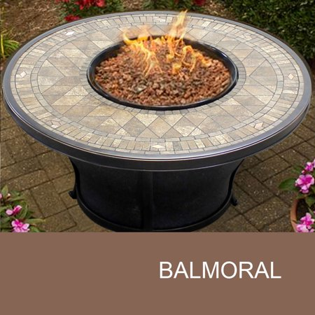 Agio Balmoral - 48 Inch Round Porcelain Top Gas Fire Pit Table - Walmart.com - Agio Balmoral - 48 Inch Round Porcelain Top Gas Fire Pit Table