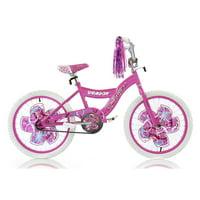 "Micargi 20"" Girl BMX S-Type Frame Coaster Brake One Piece Crank Chrome Rims Black Tire Color: Pink"
