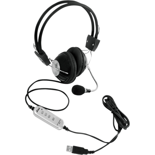Pyle Multimedia/Gaming USB Headset with Noise-Canceling Microphone, PHPMCU10