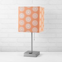 Better Homes & Gardens Fabric Coral Shade with Metallic Silver Base