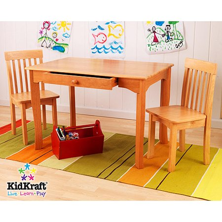 kidkraft avalon table and chair set honey walmart com