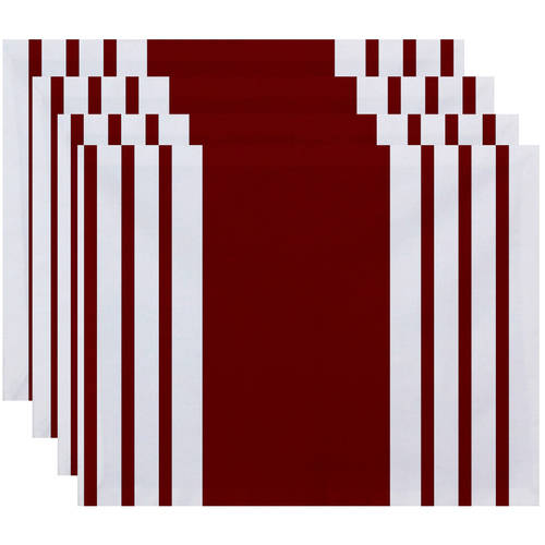 """Simply Daisy 18"""" x 14"""" Big and Bold Stripe Decorative Placemat"""